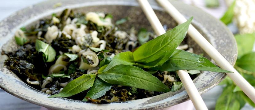 Grünkohl mit Vietnamesischem Koriander