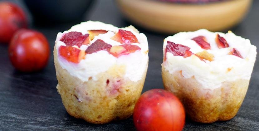 Kirschpflaumenmuffins