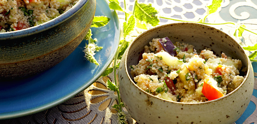 Couscous-Salat mit Ananasminze