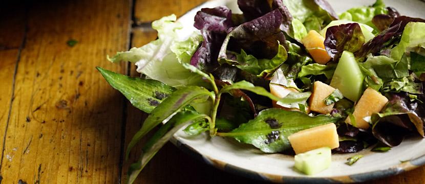 Salat mit Melone und Vietnamesischer Koriander