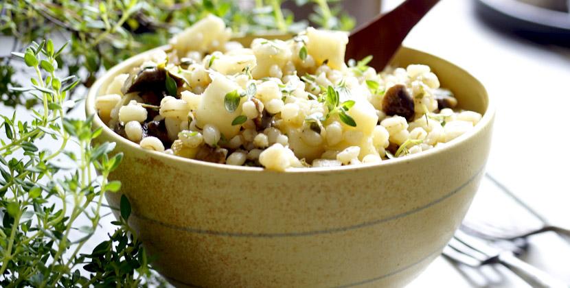 Spargel-Perlgraupen-Salat mit Zitronenthymian